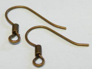 10 x Copper colored Shepherd hooks pair 15mm