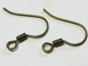 10 x Bronze colored Shepherd hooks pair 15mm