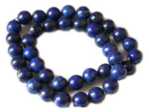 Lapis lazuli bead string, round, 10mm, 40cm