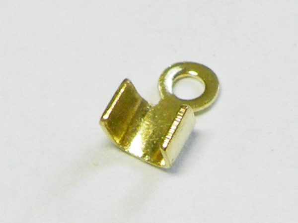 10 x End crimp for strings in silver color 6x4mm