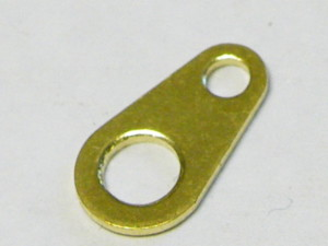 20x Blank gold Hallmark Tag, ready for hallmarking 9mm