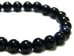 Blue goldstone bead string, 4mm, round, 40cm