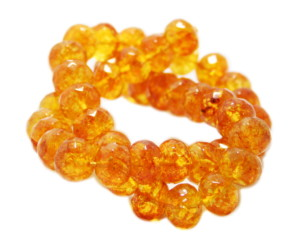 Citrine bead string, rondelle, faceted, 8x12mm, 40cm