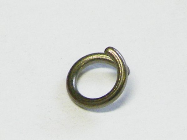 50x Jumprings, gunmetal color, 6mm OD, 0.75mm thick
