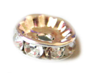 4x 10mm round rondelle with clear rhinestones-0