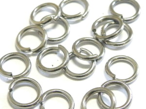 20x Jumpring in nickel silver 7.1x1.1mm