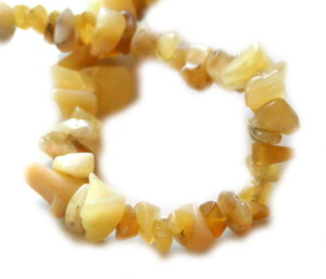 Yellow common opal chip string, 80cm