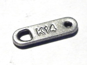 4x K14 tag in stainless steel 11mm