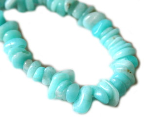 Blue AAA grade Amazonite chip string, 80cm -0