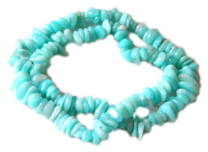 Blue AAA grade Amazonite chip string, 80cm -37382