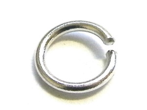 10 x Silver Jump Rings, 0.8mm thickness, 5mm ID, 6.7mm OD