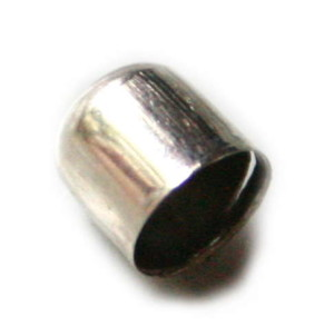 Simplistic Silver Bead Cap 7mm x 6.5mm internal-0