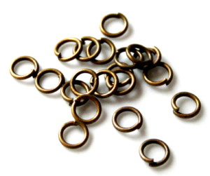 100x bronze jumprings 6.2 OD x1mm thick-0