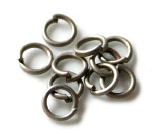 50x Dull Silver Jump Rings 4.2mm ID, 6.3 OD, 1.1mm Thickness-0