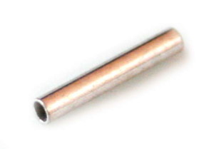 Bright silver color tube 12x2mm, nickel free