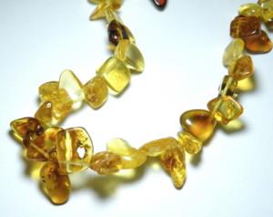 Natural Amber Side-Drilled Chip string 38cm string