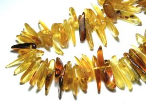 Natural Amber Finger Chip string 38cm string