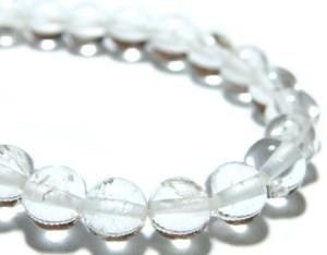 Quartz bead string, 6mm, round, 40cm