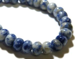 Sodalite bead string, 4x6mm, Rondelle, 40cm