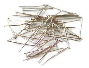 50 x Nickel free head pins, 0.6x30mm