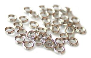 100 x Nickel free split rings, 5mm