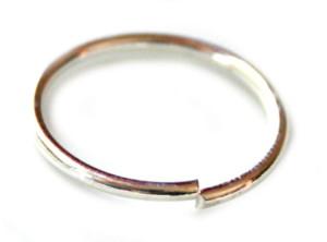 2 x Nickel free jumpring, bright silver, 1,5x20mm