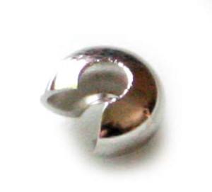 50 x Nickel free crimp cover, 4mm