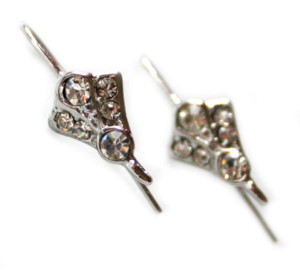 Nickel free earring pair, elegant design, 22mm