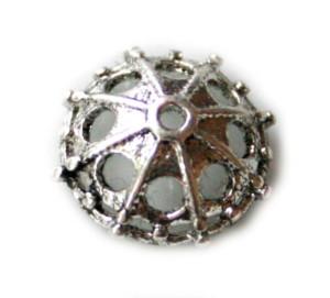 Nickel free bead cap, antique design, 12mm