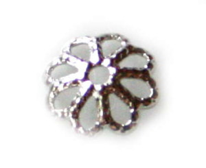 10 x Nickel free bead cap, flower design, 6mm
