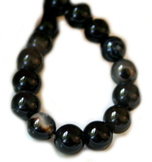Sardonyx bead string, round, 6mm, 38cm long
