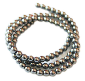 Hematite bead string 4mm, 38cm