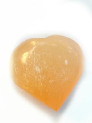 Orange Selenite heart 4 cm