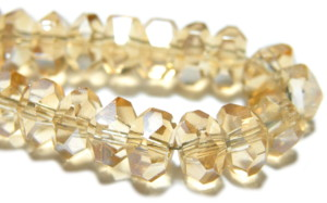Light orange glass string, 4x6mm, rondelle, 38cm