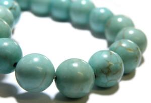 Blue howlite bead string, 8mm, round, 40cm