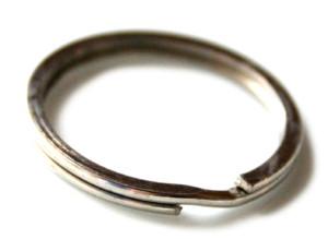 2 x Silver keyring, 25mm