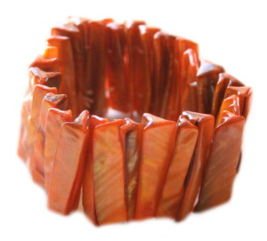 Orange shell bracelet 35mm