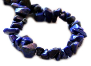 Lapis lazuli chip string, A Grade, 80cm