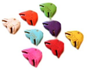 30mm Fish Howlite Bead Assorted Colours