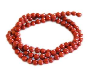 Red Jasper bead string, 4mm, round, 40cm