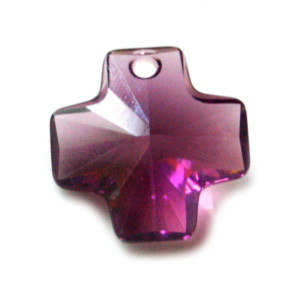Swarovski Cross 20mm, amethyst