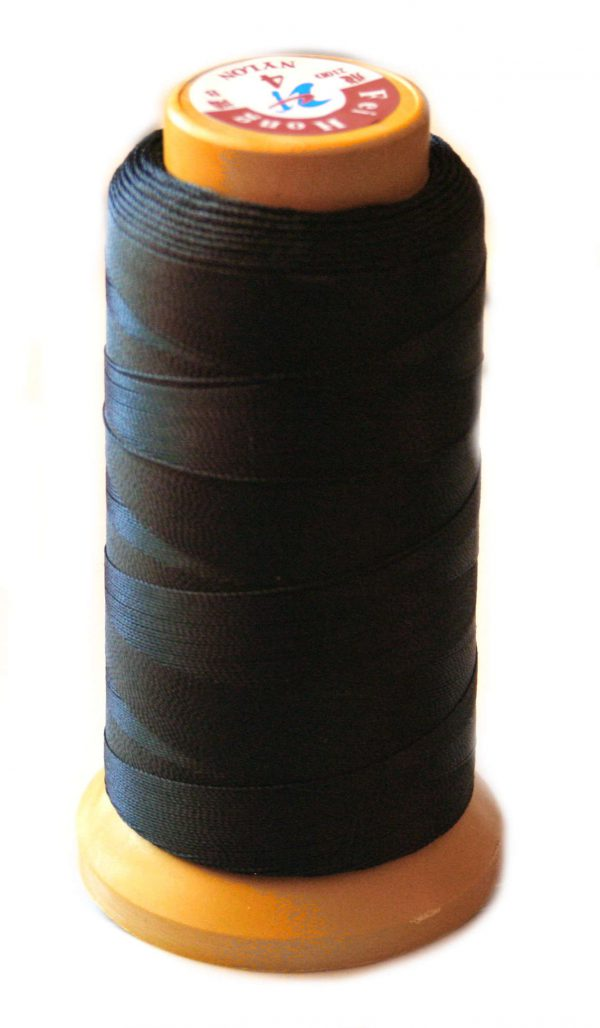 Nylon thread for pearl stringing, size 4, black