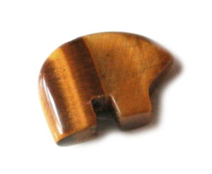 Tigerseye animal bead, 14mm