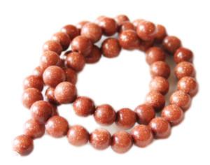 Black gold Amazonite bead string, round, 6mm, 40cm