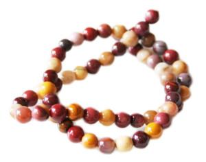 Mookaite bead string, 6mm, round, 40cm