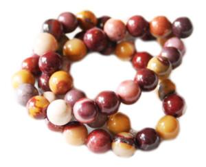 Mookaite bead string, 8mm, round, 40cm