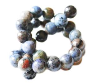 Sunset Dumortierite bead string, 10mm, round, 40cm