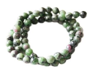 Ruby in Zoisite bead string, B-grade, 6mm, round, 40cm