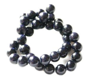 Blue Goldstone 10mm string. 37 cm