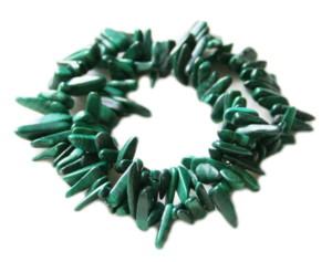 Malachite chip string, 40cm